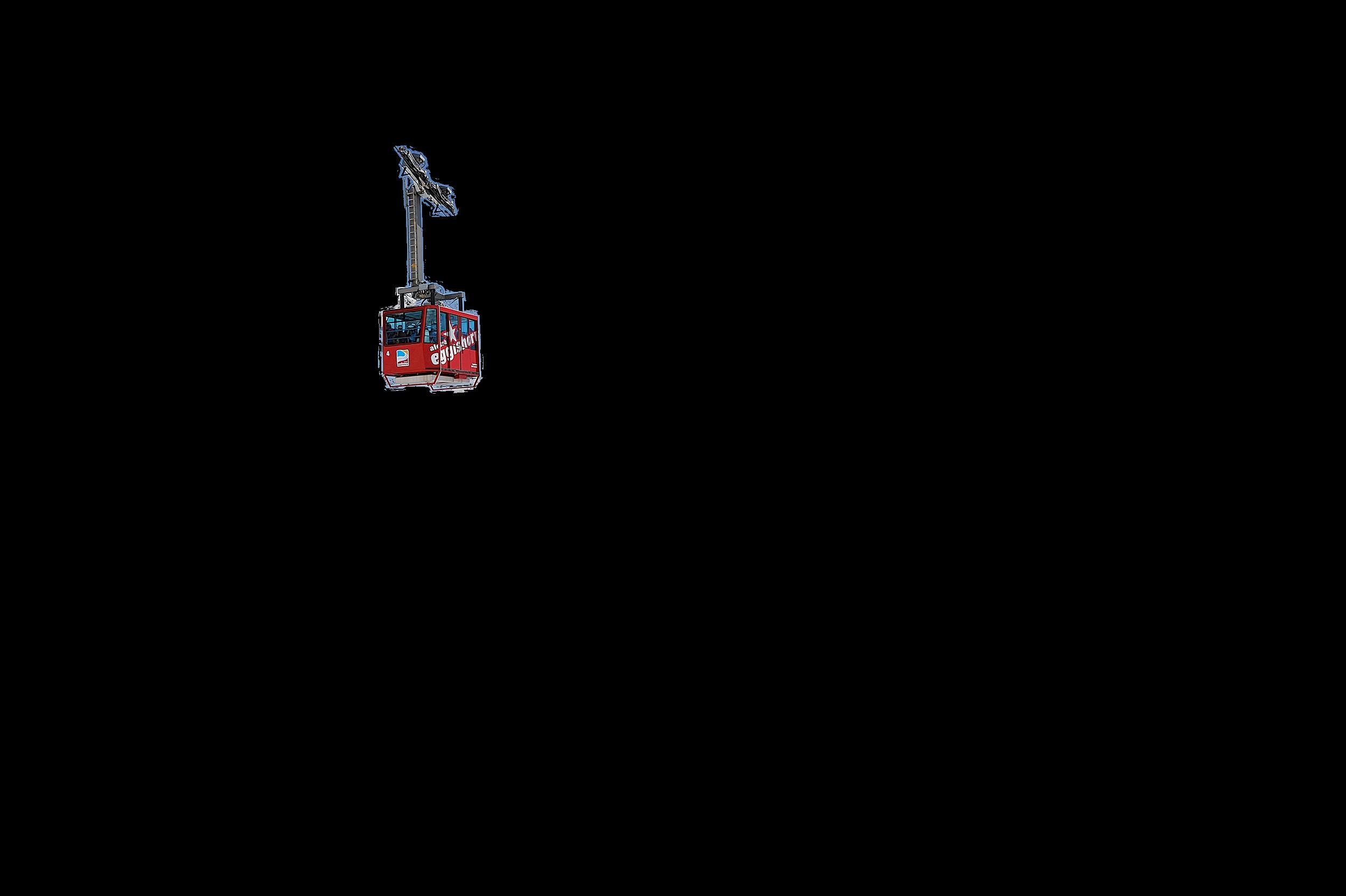 Een karretje van een skilift